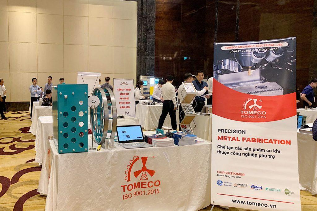 Sản phẩm công nghiệp phụ trợ của TOMECO tại sự kiện